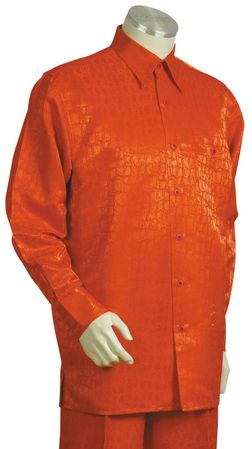 Canto Big and Tall Snake Print Long Sleeve Walking Suits 850 - click to enlarge