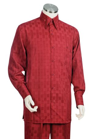 Canto Big and Tall Square Pattern Dress Walking Suits 878