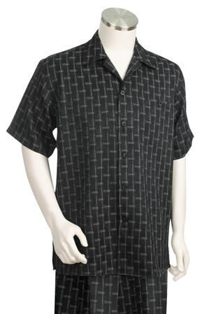 Canto Big and Tall Woven Pattern Walking Suit 686
