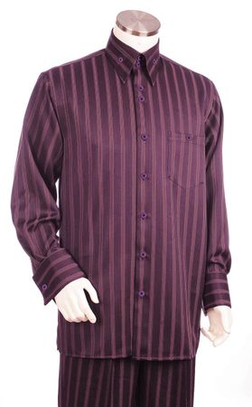 Canto Big and Tall Unique Stripe Casual  Walking Suits 877