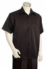 Canto Black Pinstripe Short Sleeve Leisure Suit 685