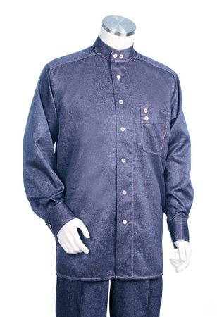 Canto Blue Denim Long Sleeve Set 871 Size XL/39 Final Sale - click to enlarge