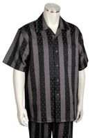 Canto Bold 2 Tone Stripe Short Sleeve Walking Sets 691