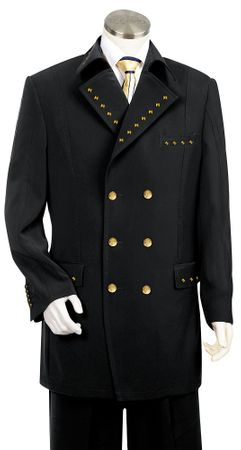 Canto Unique Metal Double Breasted Fashion Suit 8 Button 8375 - click to enlarge