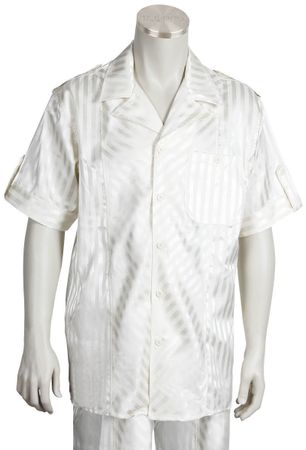 Canto Cream Stripe Outfit 695 Size XL Final Sale - click to enlarge