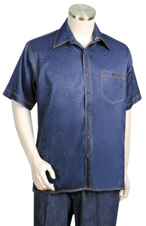 Canto Denim Style Short Sleeve Walking Suits 684