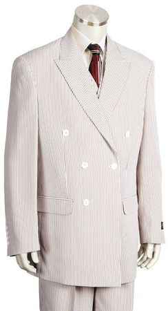 Canto Double Breasted Style  Mens Seersucker Suits 8356