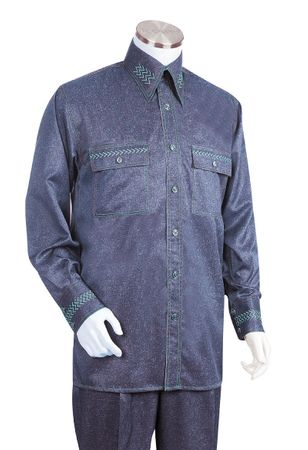 Canto Fancy Stitch Design Mens Walking Suits Fashionable 870