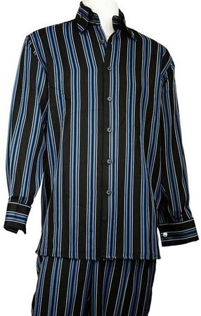 Canto Fancy Triple Stripe Long Sleeve Walking Suit  861 - click to enlarge