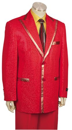 Canto Flashy Red Entertainer Fashion Suit 8169 - click to enlarge