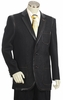 Canto Mens Black Leather Trim Denim High Fashion Suit 8355
