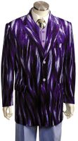 Canto Mens Unique Purple Sparkle Velvet Jacket Entertainer Suit 8217