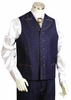 Canto Mens Blue Wide Lapel Denim Vest Outfit 9023