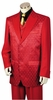 Canto Mens Red Diamond Pattern Entertainer Fashion Suit 8368