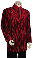 Canto Mens Red Sparkle Velvet 3 Piece Suit 8217