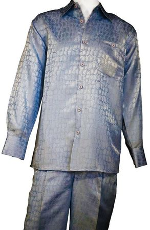 Canto Mens Snake Print Long Sleeve Walking Suit 850