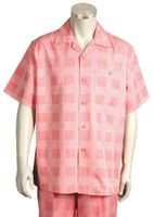 Canto Short Sleeve Walking Sets Fancy Square Pattern 690