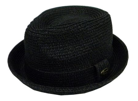 Capas Men's Black Stingy Brim Summer Hat Traveler