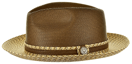 Summer Hats for Men Brown Ivory Fedora Bruno MA921