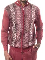 Montique Mens Burgundy Zipper Sweater and Pants Walking Sets 1502
