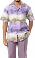 Mens Leisure Outfits by Montique Lavender Woven Set 1747