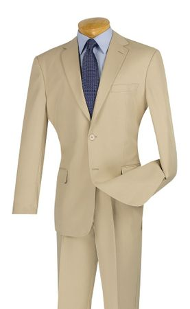 Cheap Beige Fitted Suit for Men Lucci S-2PP
