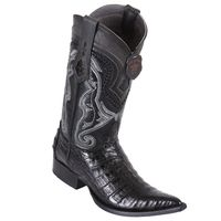 Cowboy Boots for Men Black Crocodile Belly Pointed Toe Los Altos 9538205