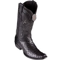 Cowboy Boots for Men Black Ostrich Skin Dubai Toe Los Altos 4790305