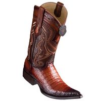 Cowboy Boots for Men Cognac Crocodile Belly Pointed Toe Los Altos 9538257