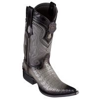 Cowboy Boots for Men Gray Crocodile Belly Pointed Toe Los Altos 9538238