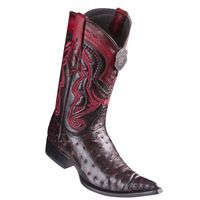 Cowboy Boots Mens Pointed Toe Black Cherry Ostrich Los Altos 9530318