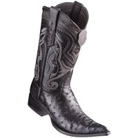Cowboy Boots Mens Pointed Toe Black Ostrich Los Altos 9530305