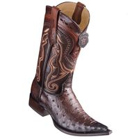 Cowboy Boots Mens Pointed Toe Brown Ostrich Los Altos 9530316
