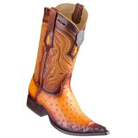 Cowboy Boots Mens Pointed Toe Buttercup Ostrich Los Altos 9530301