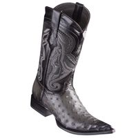 Cowboy Boots Mens Pointy Toe Gray Ostrich Los Altos 9530338