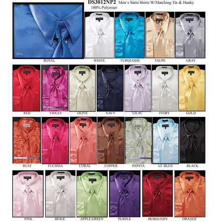 Daniel Ellissa Big and Tall Satin Dress Shirts 3012NP2 - click to enlarge