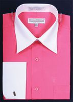 Daniel Ellissa Fuchsia 2 Tone French Cuff Dress Shirt DS3006WT