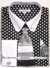 Daniel Ellissa Men's Black White Polka Dot Dress Shirt Tie Set DS3791P2