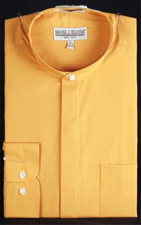 Daniel Ellissa Mens Gold Banded Collar Dress Shirt DS3001C