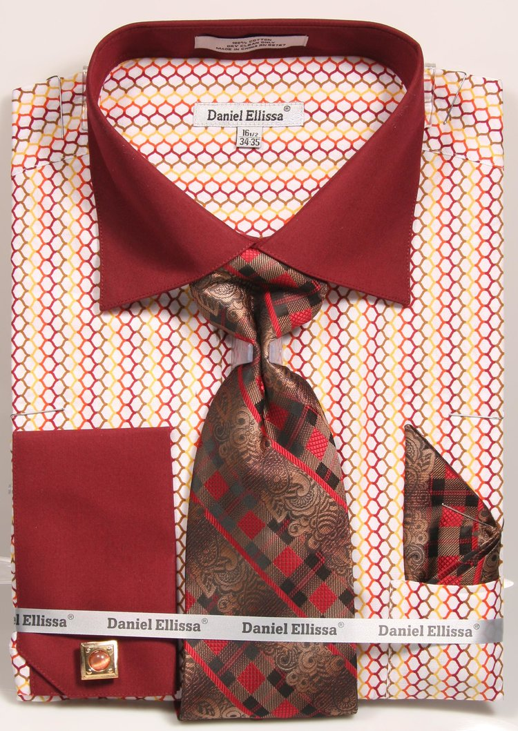 a685b3d80c6c French Cuff Dress Shirt And Tie Set – EDGE Engineering and ...