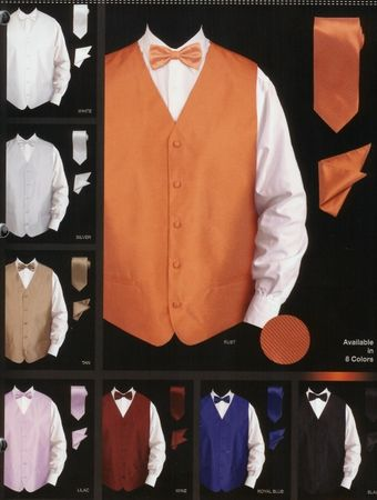 Daniel Ellissa Mens New Textured Satin Tuxedo Vest Set VS802