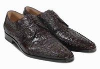 David Eden Crocodile Shoes Mens Brown Horn Back Cancun