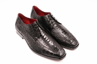 David Eden Genuine Black Ostrich Shoes Split Toe Andretti
