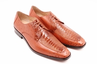 David Eden Genuine Cognac Ostrich Shoes Split Toe Andretti