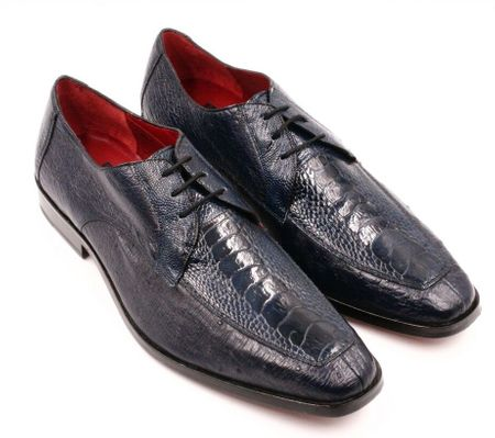 David Eden Genuine Navy Ostrich Shoes Split Toe Andretti - click to enlarge