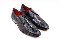 David Eden Genuine Navy Ostrich Shoes Split Toe Andretti