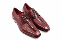 David Eden Genuine Wine Ostrich Shoes Split Toe Andretti