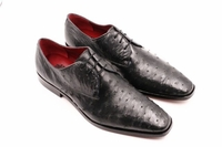 David Eden Gray Bumpy Ostrich Skin Shoes Connor
