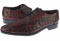 David Eden Mens Black Cherry Crocodile Shoes Tulum