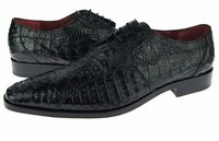 David Eden Mens Black Crocodile Shoes Tulum